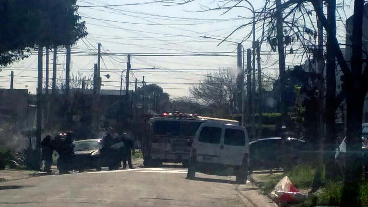 Ahora Incendio en Morón sobre la calle Monte al 2800