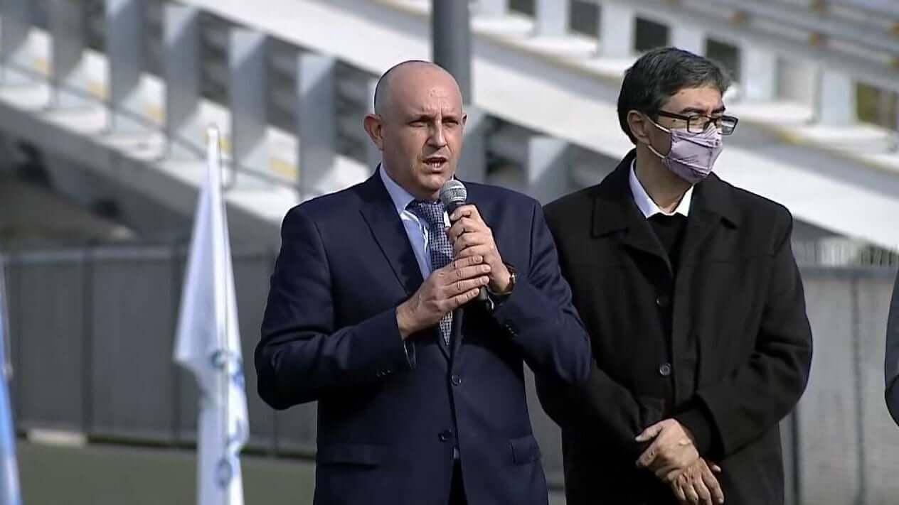 El Ministro Alexis Guerrera y Roberto Rocha
