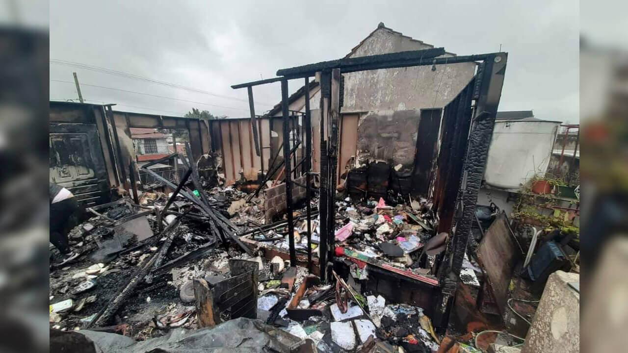 Una familia de Morón, la familia Torrez, perdió su vivienda y todas sus pertenencias a causa de un corto circuito