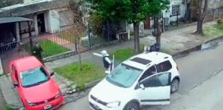Morón: Le apuntan con un arma para robarle el auto luego de dejar bajar a su hijo
