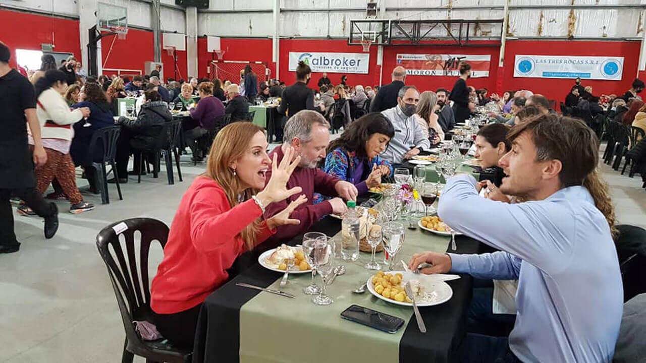 Ahora Victoria Tolosa Paz está en Morón junto a Ghi, Sabbatella y Guerrero